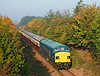 45060 on the first train of the day the 08.50hrs from Wansford during the Nene Valley Autumn Diesel gala<br /> 30/9/2011