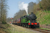 1744 approaches Bewdley station on the 12.03hrs Highley to Kidderminster local	<br /> 24/03/2012