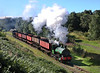 'Cochrane' is seen near Sunniside on a demonstration coal train with Twizell on the rear during the Tanfield railway gala.08/09/2013