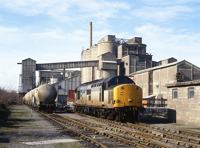37509 seen at Eastgate cement works . 5/3/1993
