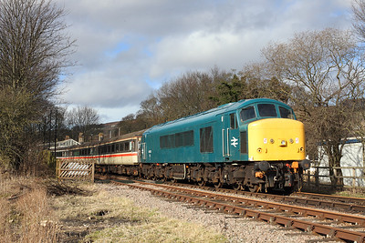 45133 seen at Stanhope station on the Weardale line. 25/2/2014