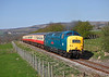 55019 seen on 2L04 the11.50hrs Redmire to Leeming Bar passing Preston under scar	<br /> 08/04/2011