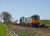 20166 + 20020 are seen on 2L06 the 13.20hrs Redmire to Leeming Bar at  Great Crakehall	<br /> 08/04/2011