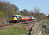 26010 approaches Leyburn with the 14.35hrs Leeming Bar - Redmire		<br /> 08/04/2011