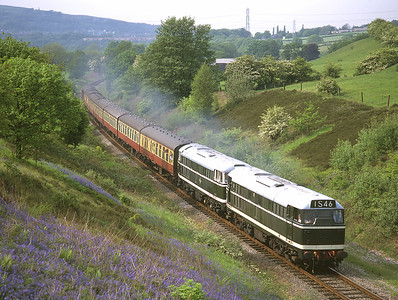 D5518 + D5500 pass the bluebells in Burrs cutting 6/6/96.