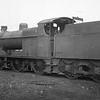 Sacking over the chimney usually indicates that the locomotive will never earn any revenue for BR again. 40 year old 4F 0-6-0 44160 awaits her fate at Workington MPD on 31/03/66 - having been withdrawn three months previously.