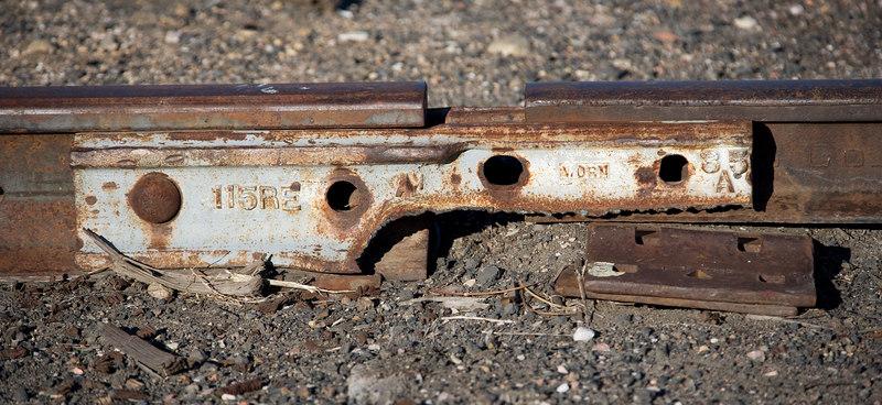Not the best rail joint in the yard. BN Longmont yard, Jan 2006.