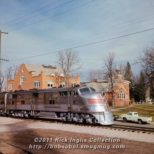 3965 Texas Zephyr, Old Main. Excursion 1966<br /> <br /> This locomotive is now preserved at the Illinois Railroad Museum.