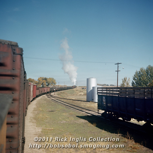 Slide 1603 GW at Severence<br /> Bill appears to be riding the caboose.