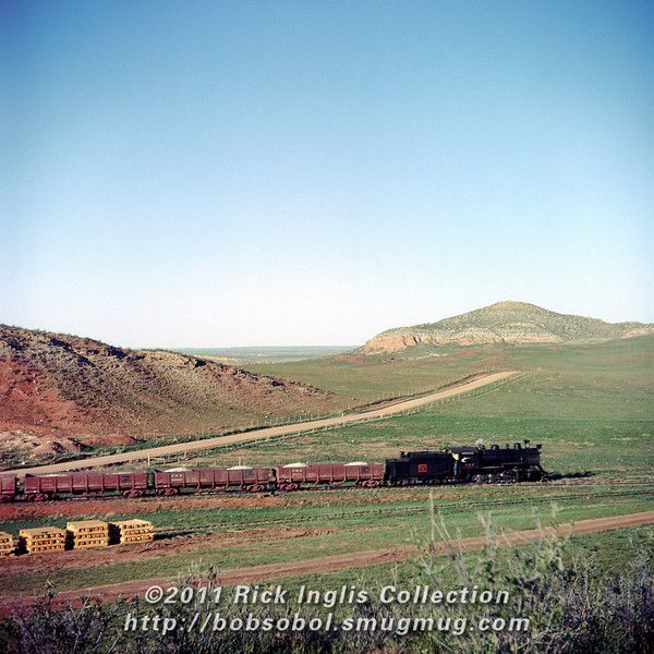 """""""#40 near Owl Canyon."""" 2-8-0 #644 on the point."""