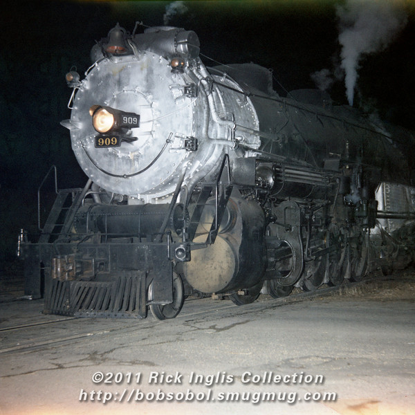 Slide No. 775. C&S 909 southbound, Feb 1958.