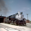 Slide No. 355. C&S 644 sits outside the Fort Collins engine house, about October 1, 1958.