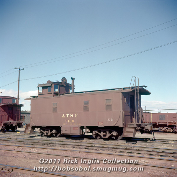 Slide No 223. ATSF caboose 2166.