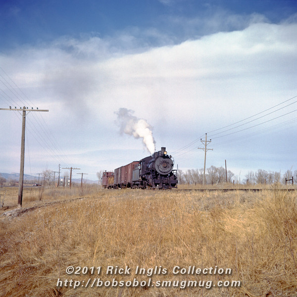 Slide No. 148. C&S 620 and caboose 10583.