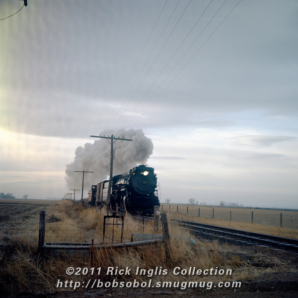 """Slide No 185. """"#900 Near Giddings, 2/57"""". Frame appears to have suffered from a light leak along the edge of the roll."""