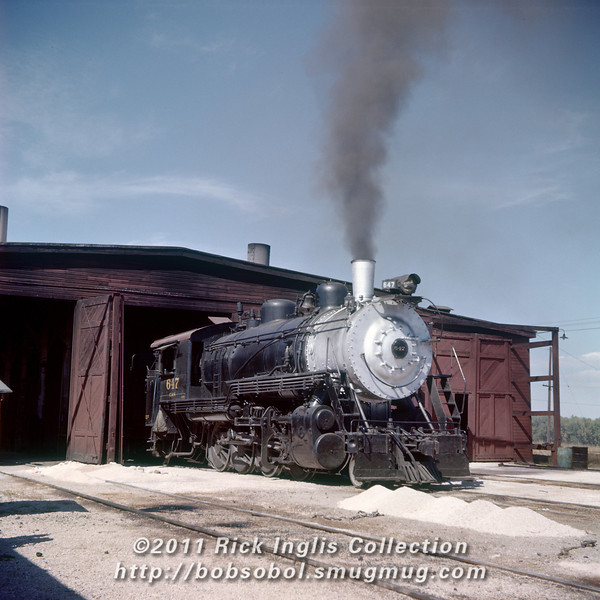 Slide No. 357. C&S 647 outside the Fort Collins engine house, about October 1, 1958.