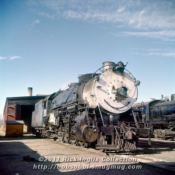Slide No 392. C&S 2-8-2 #804 outside Fort Collins engine house.