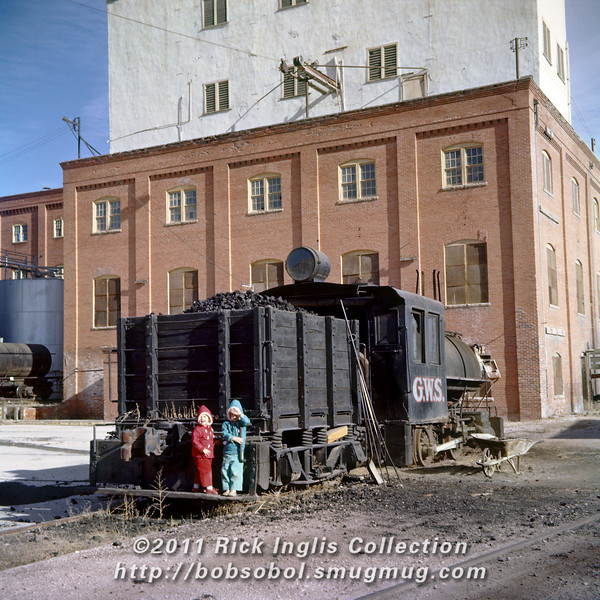 Slide No. 397. Great Western Sugar 0-4-0 at the Fort Collins sugar mill.