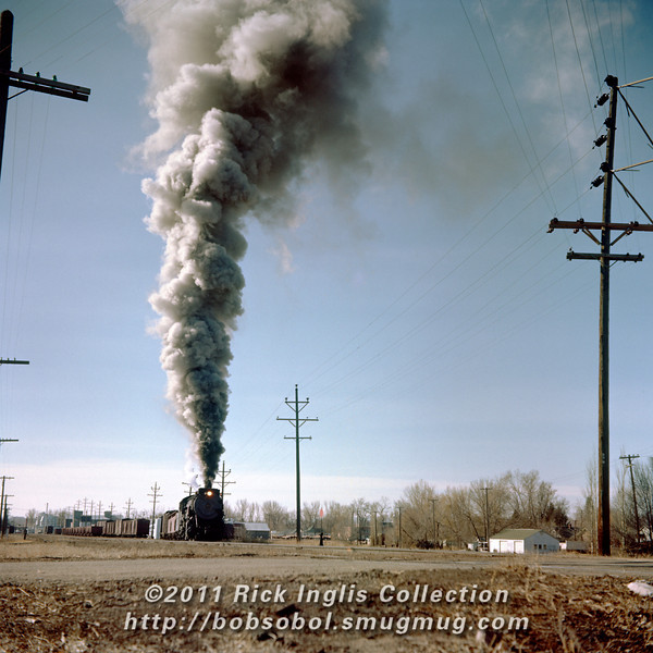 Slide No. 193. C&S 904 at Loveland, March 1957.