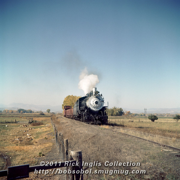 Slide No. 372. C&S 647 at North Shields St., Fort Collins, October 1958.