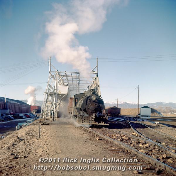 Slide No. 132. Unloading sugar beets into the wet hopper at Great Western Sugar in Loveland, 1956.
