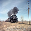 Slide No. 201. Greeley Local Behind C&S 648 near Poudre River Mar 1957