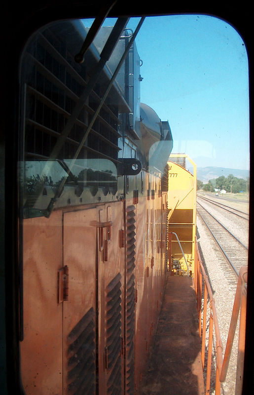 Looking back while switching North Yard, Fort Collins. GW GP20-MQ #5625. Photo taken with permission of the railroad.