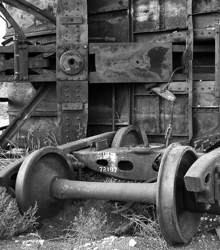 Great Western Rwy hopper wrecked in Johnstown, CO. September 5, 2002.