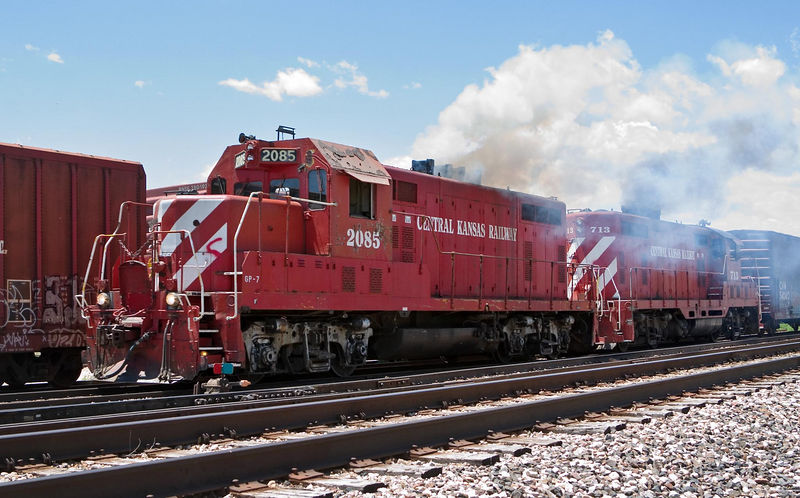 """""""Honorary steam"""" on the Great Western, North Yard Fort Collins, June 14 2004."""