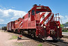 Two ex-SantaFe GP-7s switch Fort Collins North Yard, June 14 2004.