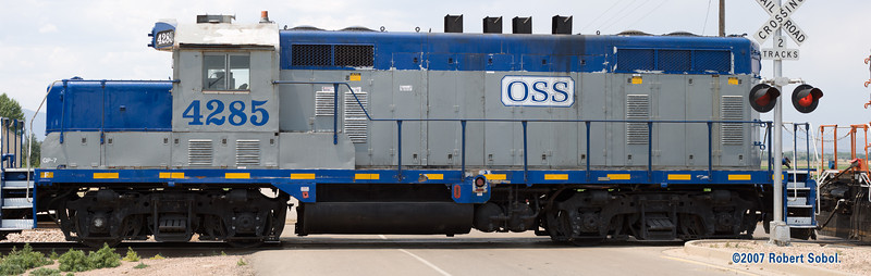 Omnitrax Switching Service GP7 at the Busch plant north of Fort Collins, CO. 34 megapixel image.