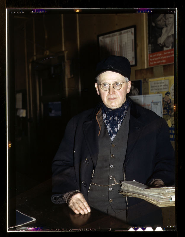 John L. Walter, conductor at Proviso yard of the C & NW RR, December 1942