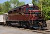 NH&I 2198, an ex-PRR GP30, sat in the New Hope yard on May 10, 2006.