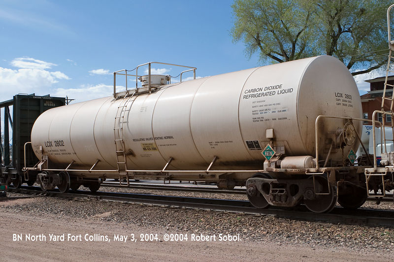 Liquid CO2 tanker, North Yard Fort Collins.