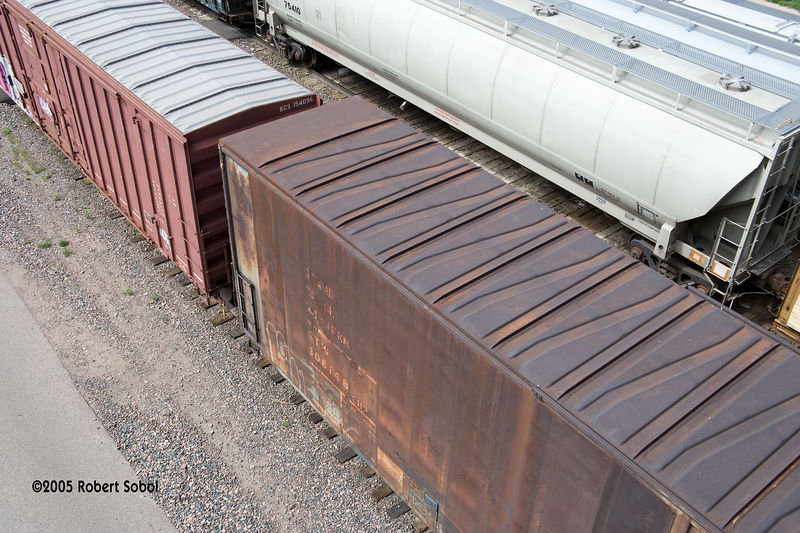 Nothing but rust left on this GTW box car, Cheyenne WY 2005