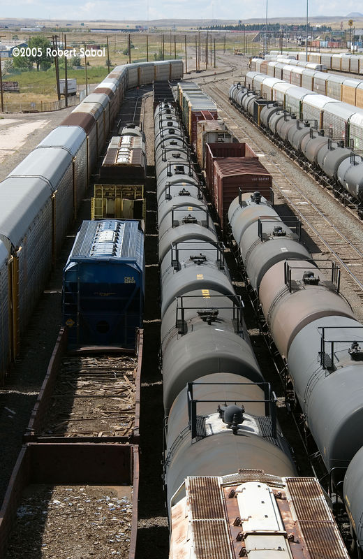 Collection of tank car roofs and gondola detritis, Cheyenne WY 2005