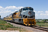 UP's Operation Livesaver train leaves Fort Collins, CO at the County Road 11 crossing. June 24,2008 at 1:48 PM.