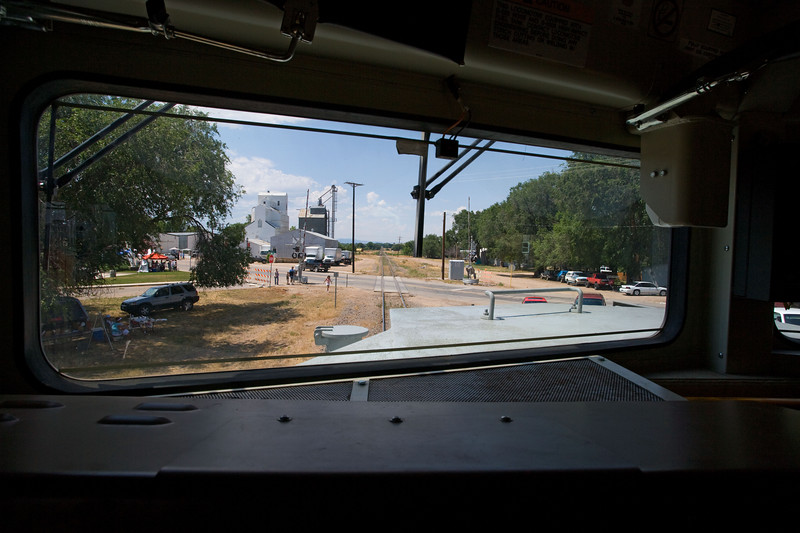 View from the conductor's seat of UP 1989. July 14, 2007.