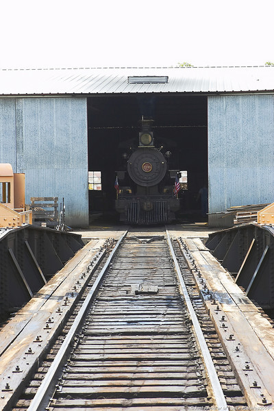 The Turntable, Aligned to the Engine Shop, Ready to Go!
