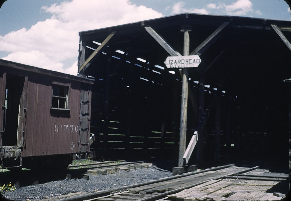 Lizard Head snowshed in 1950. Photo by William F. Hellgren.