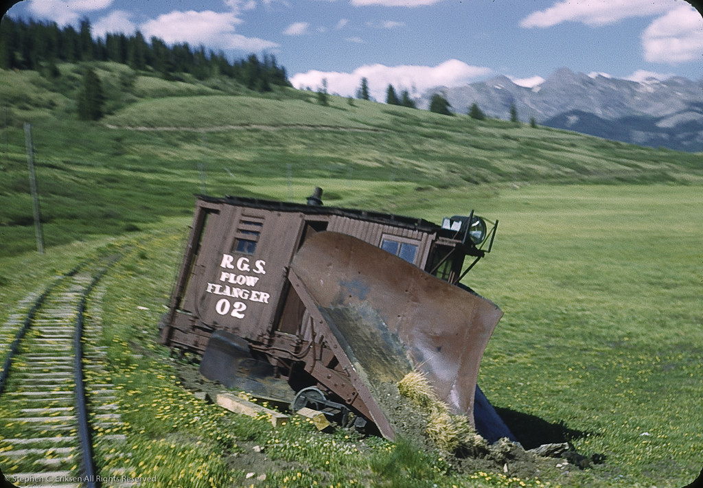 Wreckage of Plow Flanger 02 at Dallas Divide in 1951. Photo by William F. Hellgren.
