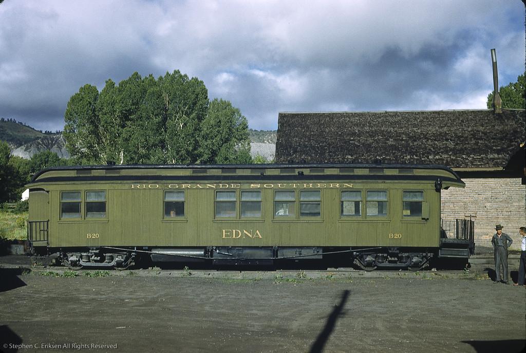 "Business car B20 ""Edna"" at Ridgway in 1950"