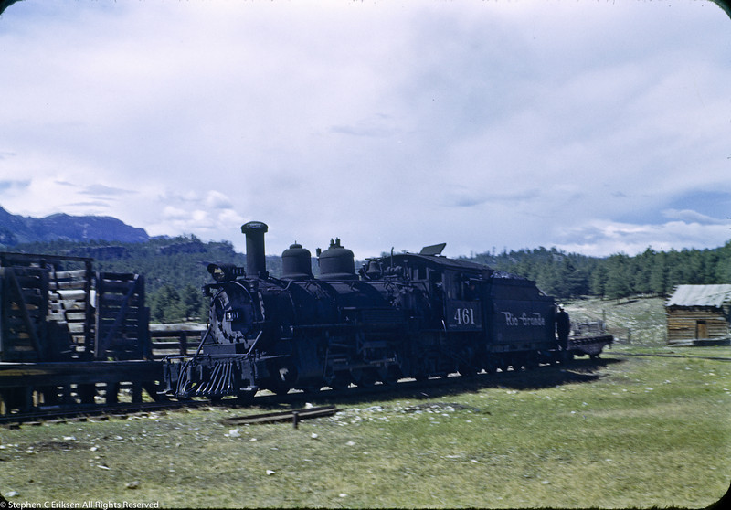 K-27 #461 is shown at Rockwood in this view from the 1950's.