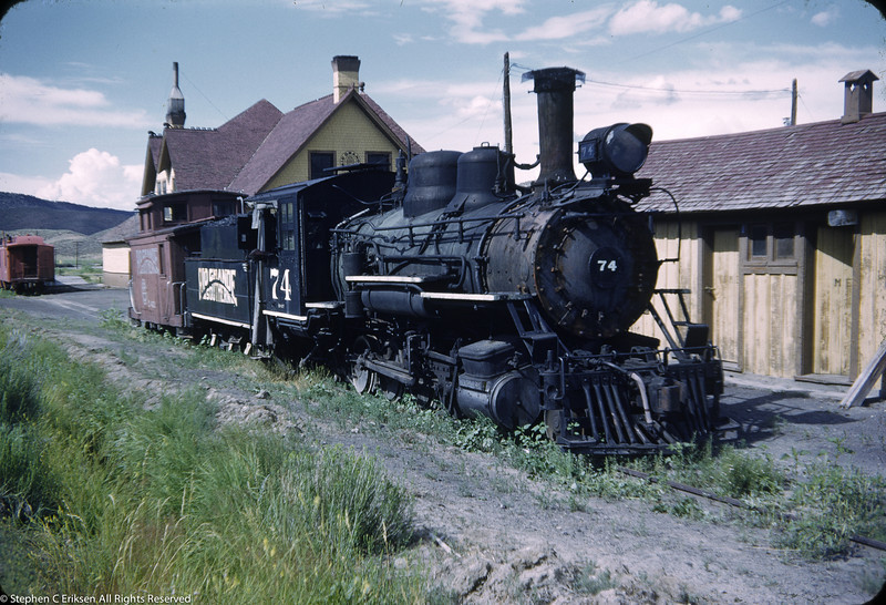 July 31, 1952 view of RGS #74 in Ridgway.