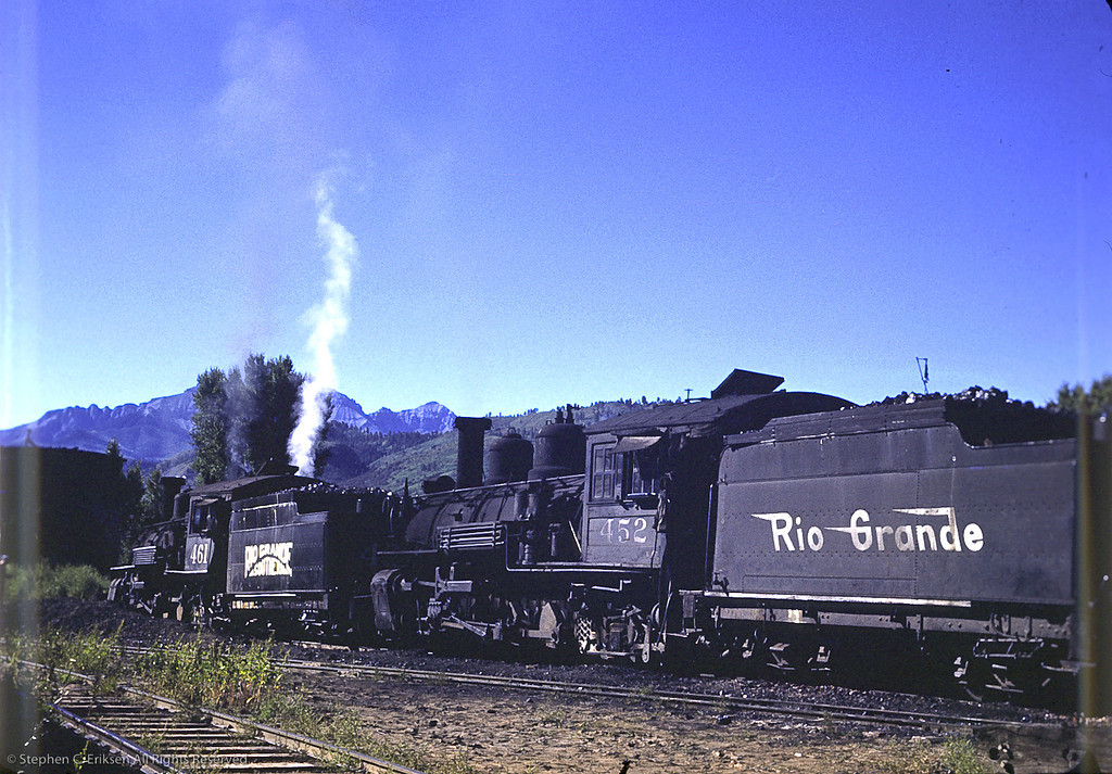 K-27's 452 and 461 at Ridgway in 1950