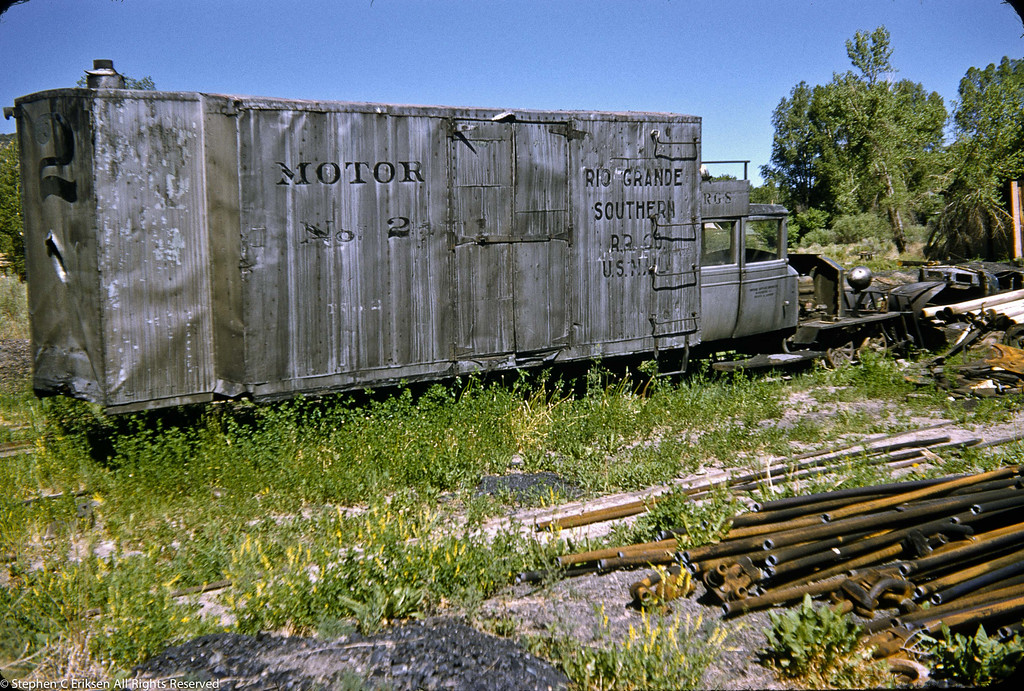 Look at the condition of Goose #2 in this view from the 1950's.  What a difference from the current condition at the Colorado Railroad Museum in Golden!