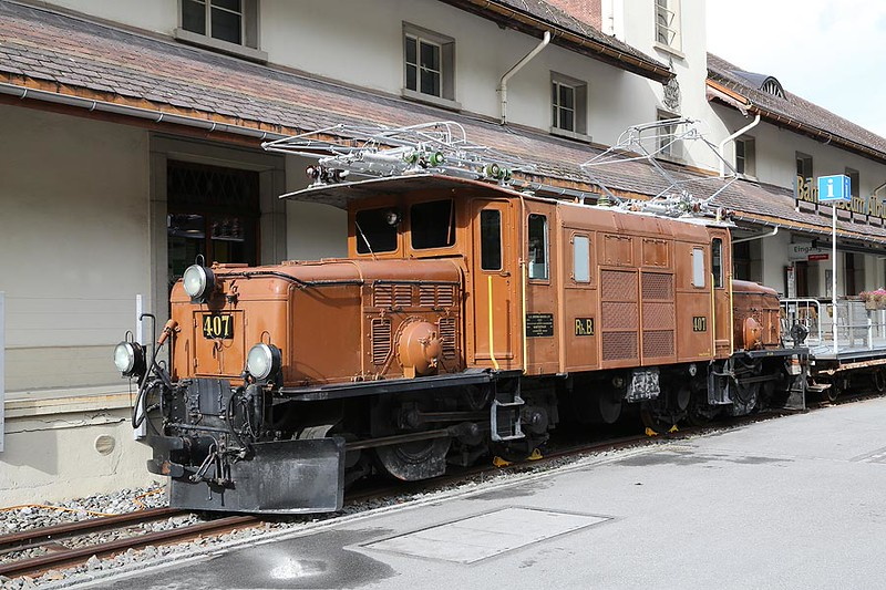RHB407 Albula Railway Museum Bergun 6th October 2015