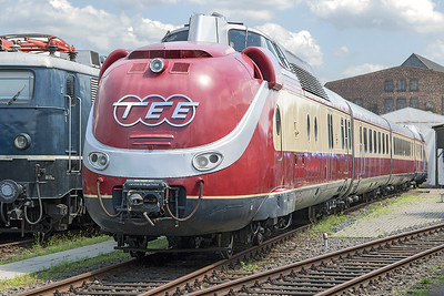 Gas Turbine TEE set VT 11 5012/602 003 Koblenz DB Museum. Tuesday 4th July 2017.