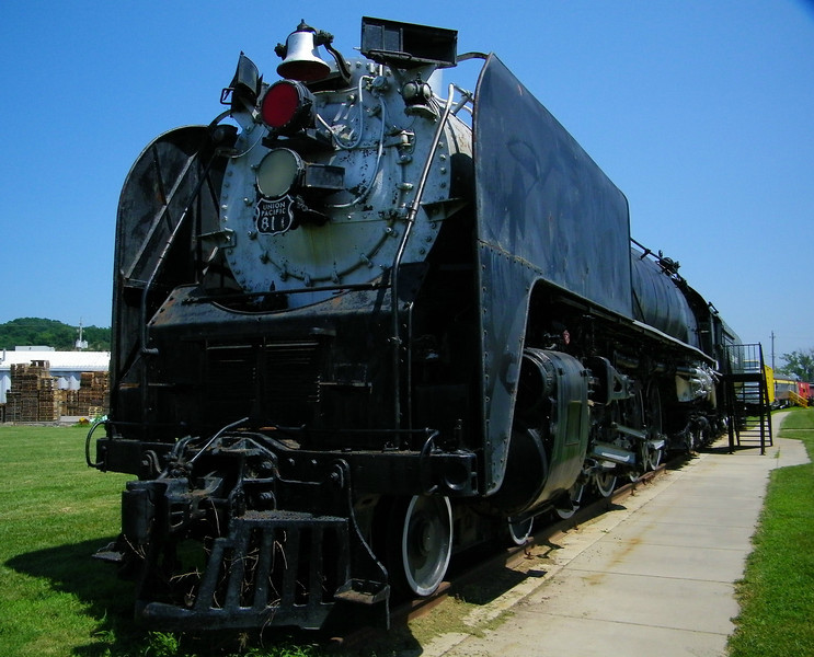 Union Pacific 4-8-4 No. 814, a locomotive of the same class and model as the operating No. 844, which I've had the pleasure to ride behind aboard the Frontier Days train between Denver and Cheyenne.