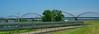 Overlooking trhe Nebraksa Zephyr and bridge over the Mississippi at Rock Island, Illinois.  Davenport, Iowa, is across the river.